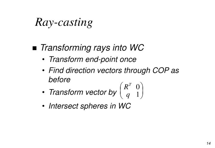 Ray-casting
