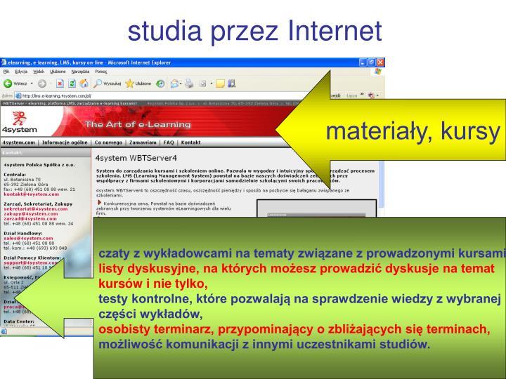 studia przez Internet