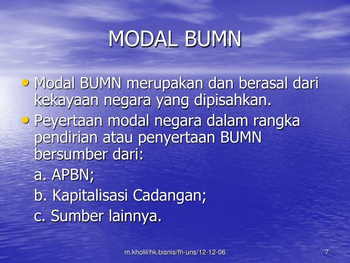 MODAL BUMN