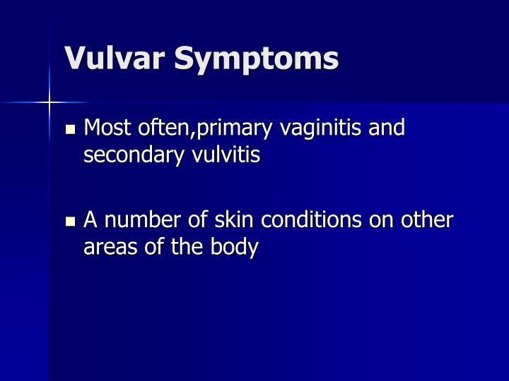 Vulvar Symptoms