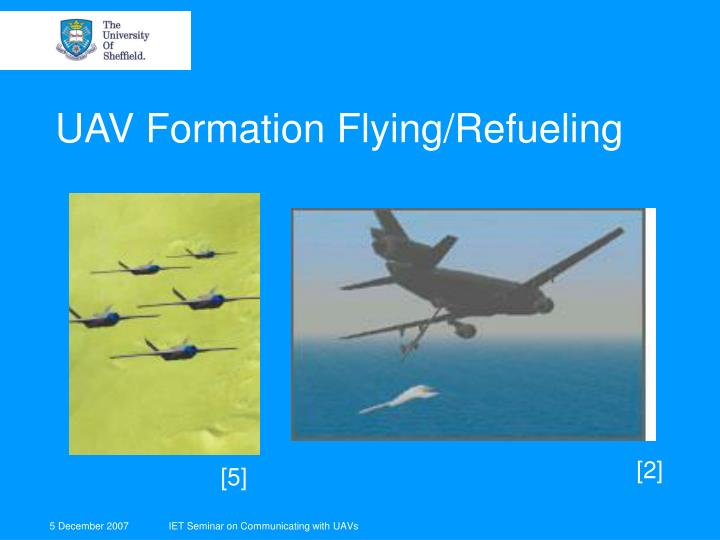 UAV Formation Flying/Refueling