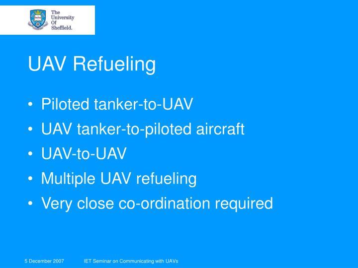 UAV Refueling