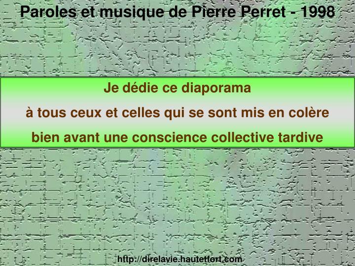 Paroles et musique de Pierre Perret - 1998