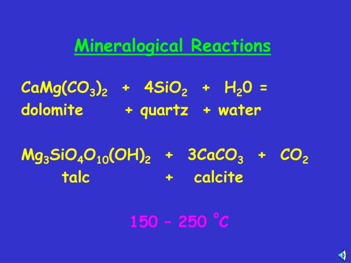 Mineralogical Reactions