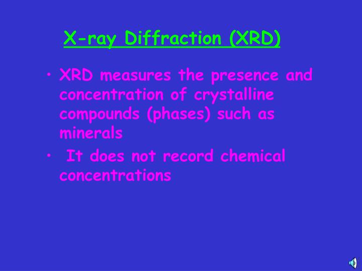 X ray diffraction xrd