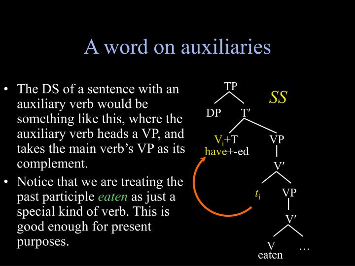 A word on auxiliaries