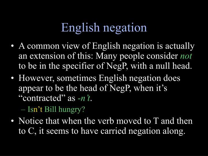 English negation