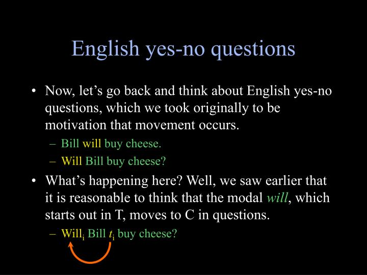 English yes-no questions