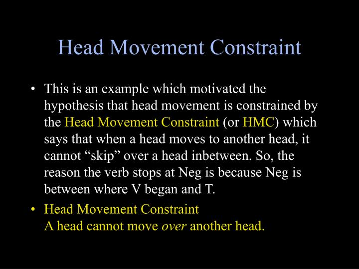 Head Movement Constraint