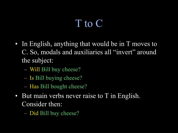 T to C