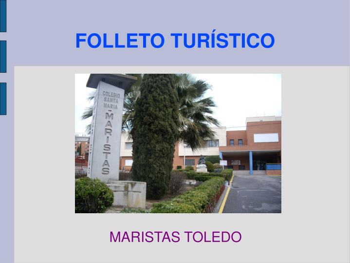 Folleto tur stico