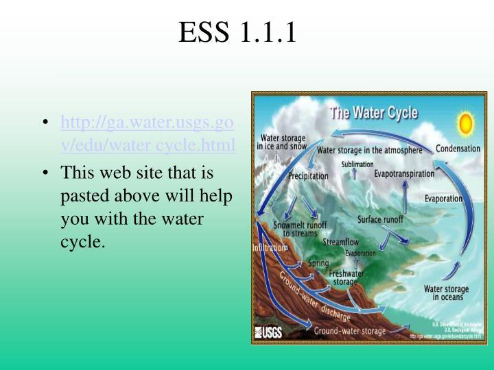 ESS 1.1.1