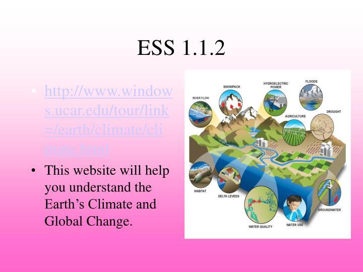 ESS 1.1.2