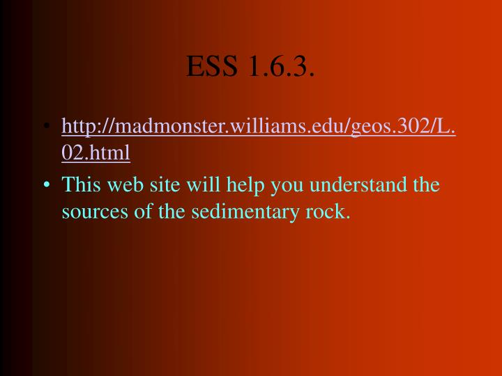 ESS 1.6.3.