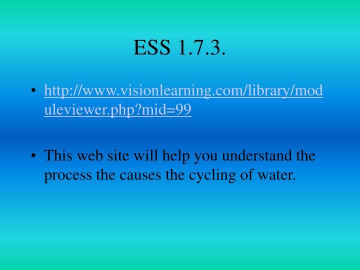 ESS 1.7.3.