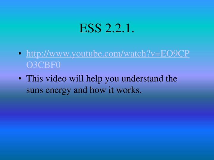ESS 2.2.1.