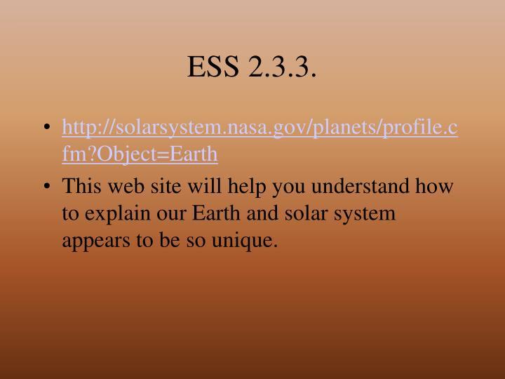 ESS 2.3.3.