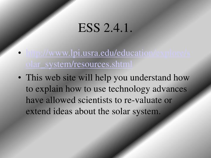 ESS 2.4.1.