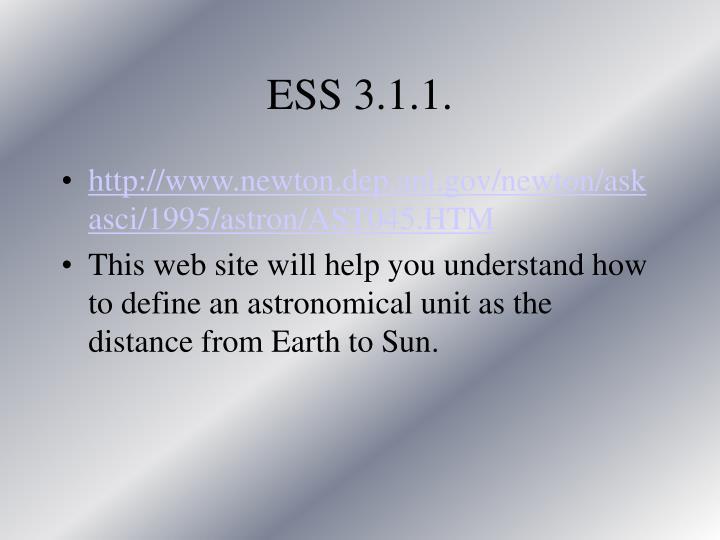 ESS 3.1.1.