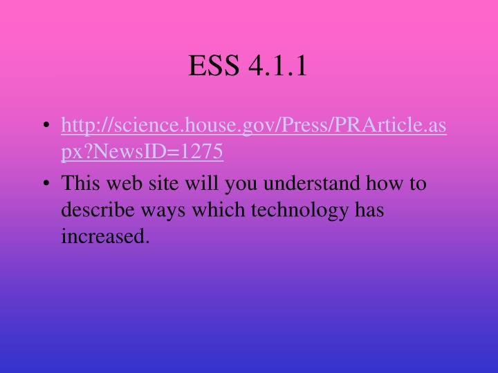 ESS 4.1.1