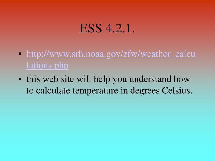 ESS 4.2.1.