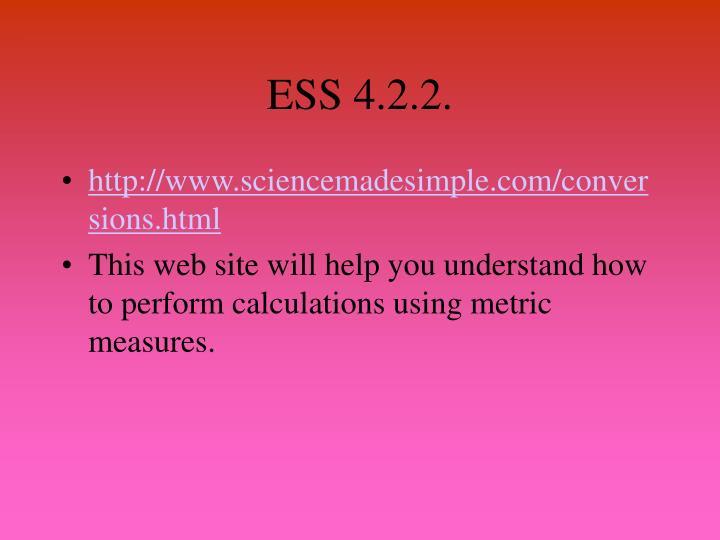 ESS 4.2.2.