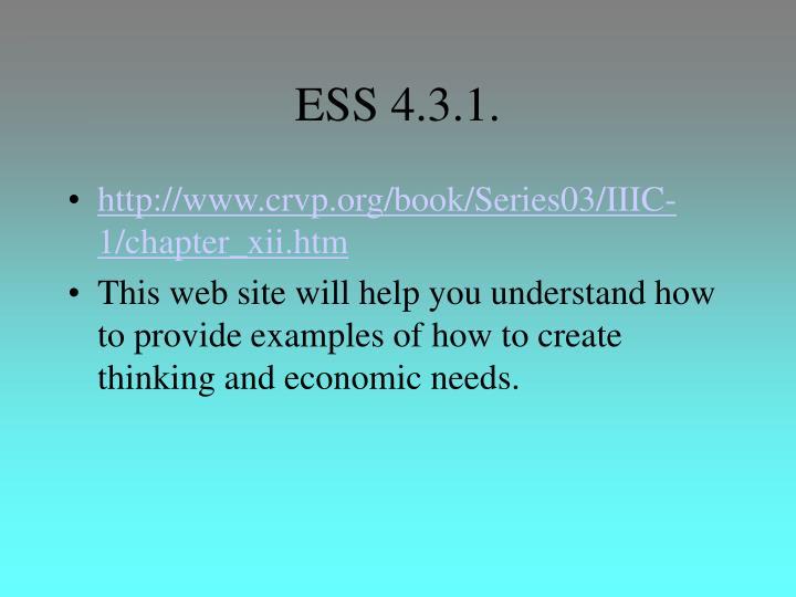ESS 4.3.1.