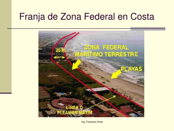 Franja de Zona Federal en Costa