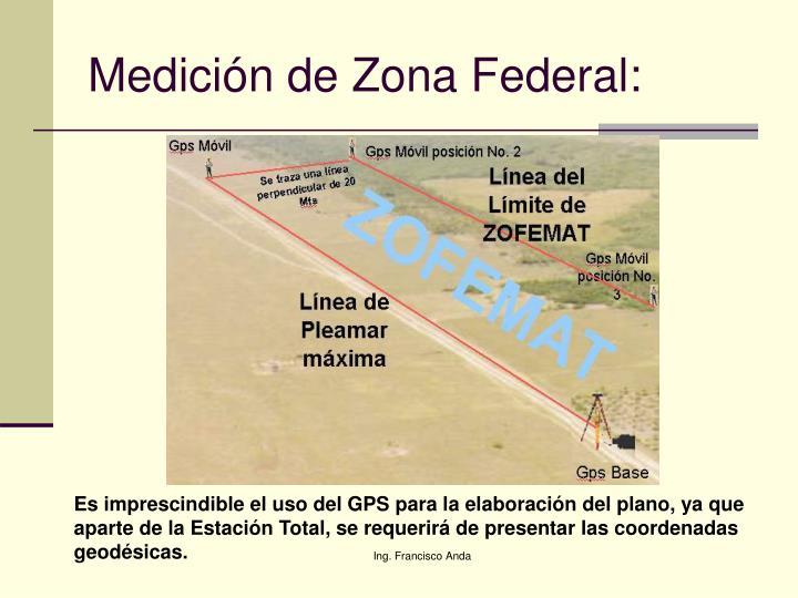 Medición de Zona Federal: