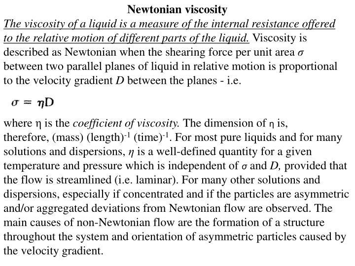 Newtonian viscosity