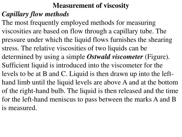 Measurement of viscosity
