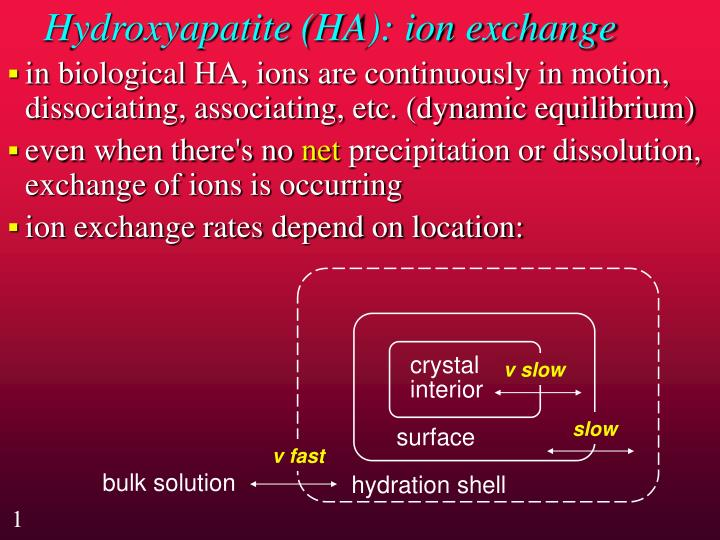 Hydroxyapatite ha ion exchange