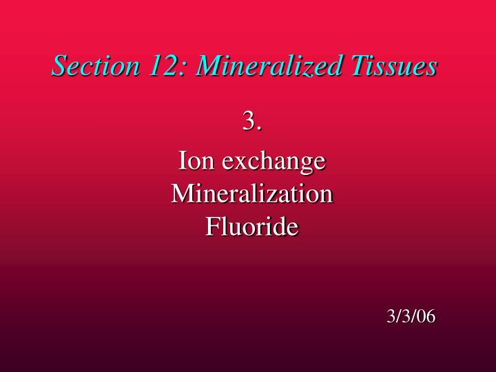 Section 12 mineralized tissues