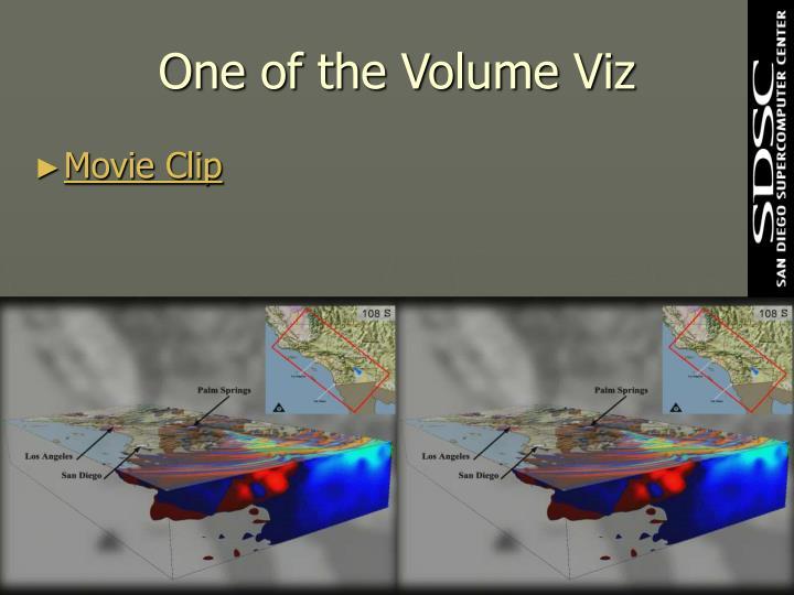 One of the Volume Viz