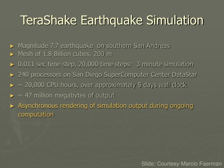 TeraShake Earthquake Simulation