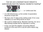 can we use a standard neural network to automatically learn the features needed for tracking