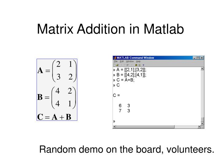 Matrix Addition in Matlab