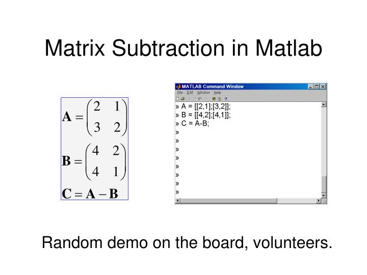 Matrix Subtraction in Matlab