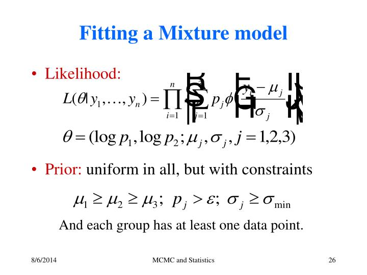 Fitting a Mixture model