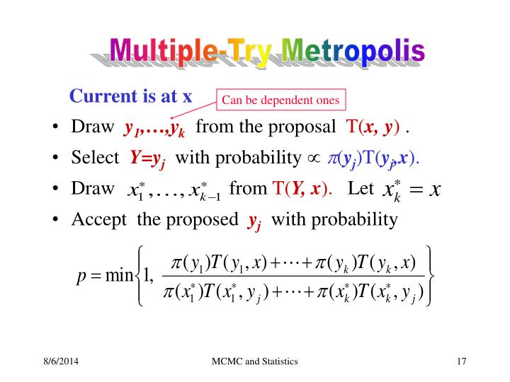 Multiple-Try Metropolis