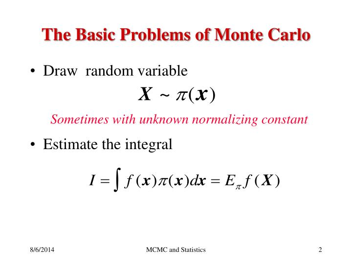The Basic Problems of Monte Carlo