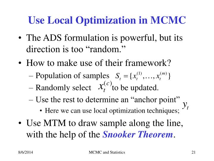 Use Local Optimization in MCMC