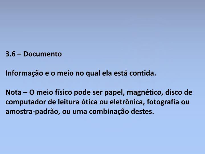 3.6 – Documento