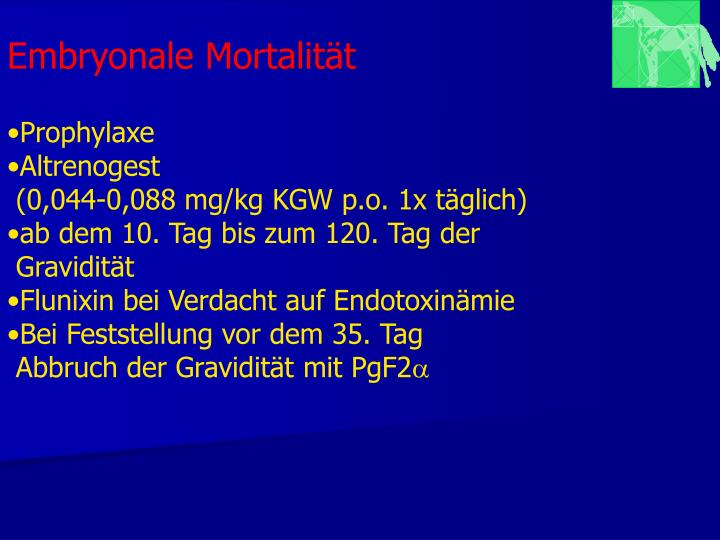 Embryonale Mortalität