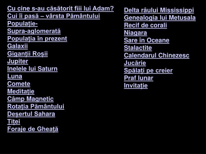 Cu cine s-au căsătorit fiii lui Adam?