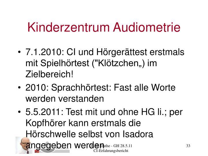 Kinderzentrum Audiometrie