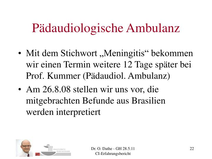 Pädaudiologische Ambulanz
