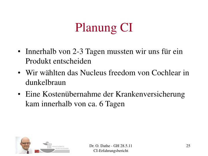 Planung CI