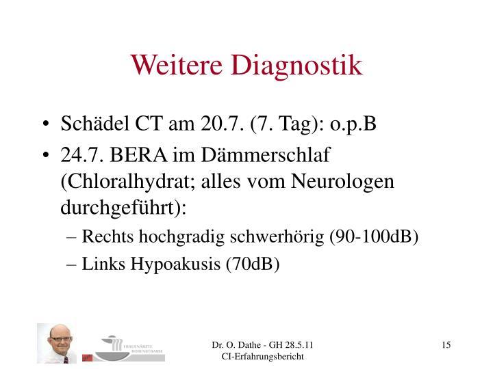 Weitere Diagnostik