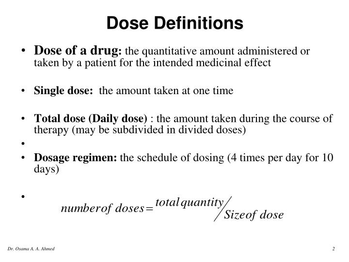 Dose definitions